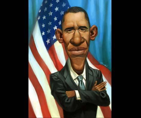 barack obama Caricaturas de Famosos