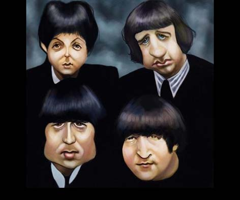 the beatles Caricaturas de Famosos