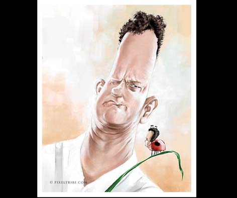 tom hanks Caricaturas de Famosos