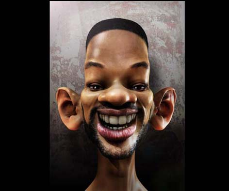 will smith Caricaturas de Famosos