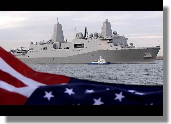 Barco de Guerra Fabricado con Acero de las Torres Gemelas