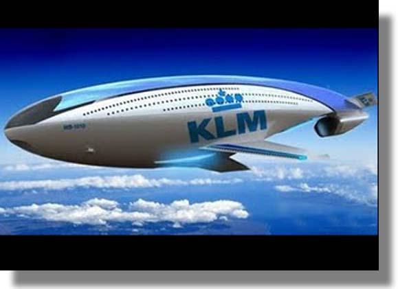 Avión Futurista  de Helio y Energía Eólica