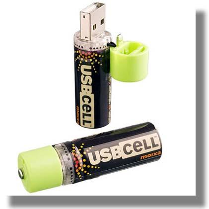 Baterías USBcell, Recargables por Medio del Puerto USB