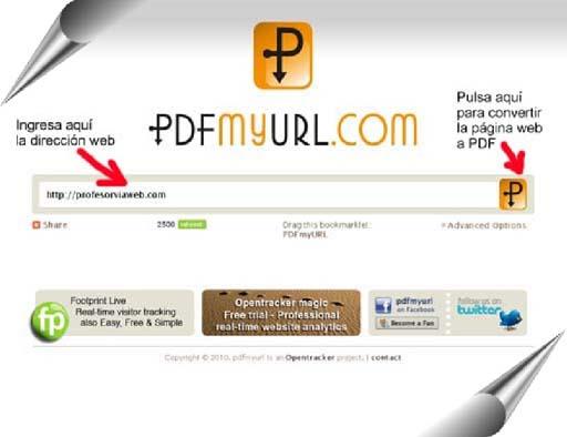 CONVERTIR WEB EN PDF
