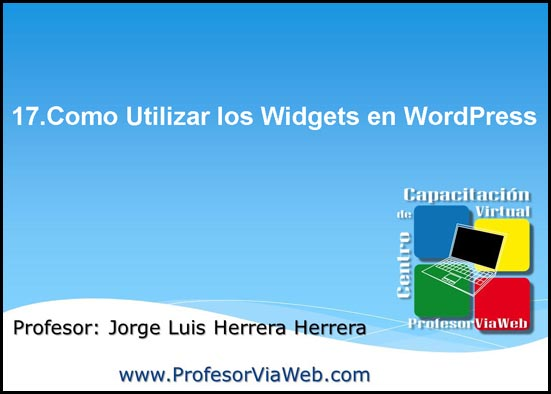 widgets en wordpress