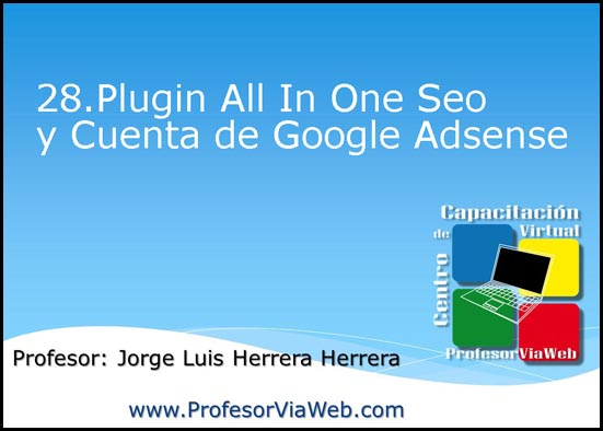 Plugins All In One Seo y Cuenta de Google Adsense All In One Seo
