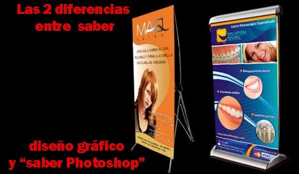 Las 2 diferencias entre saber diseño gráfico y saber Photoshop