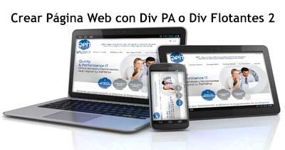 Crear Página Web con Div PA o Div Flotantes 2