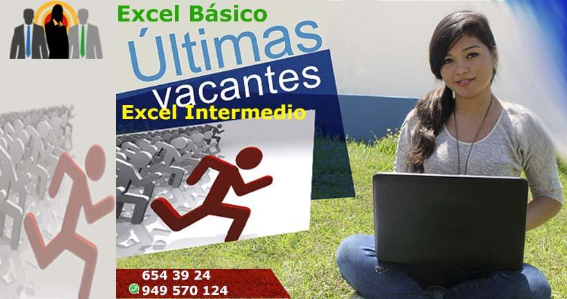 Excel Básico - Excel Intermedio - Últimas Vacantes