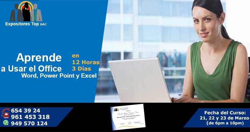Aprende a Usar el Office Word, Power Point y Excel