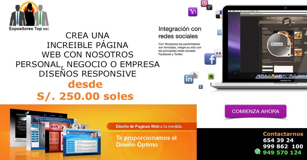 creacion de diseño de paginas web