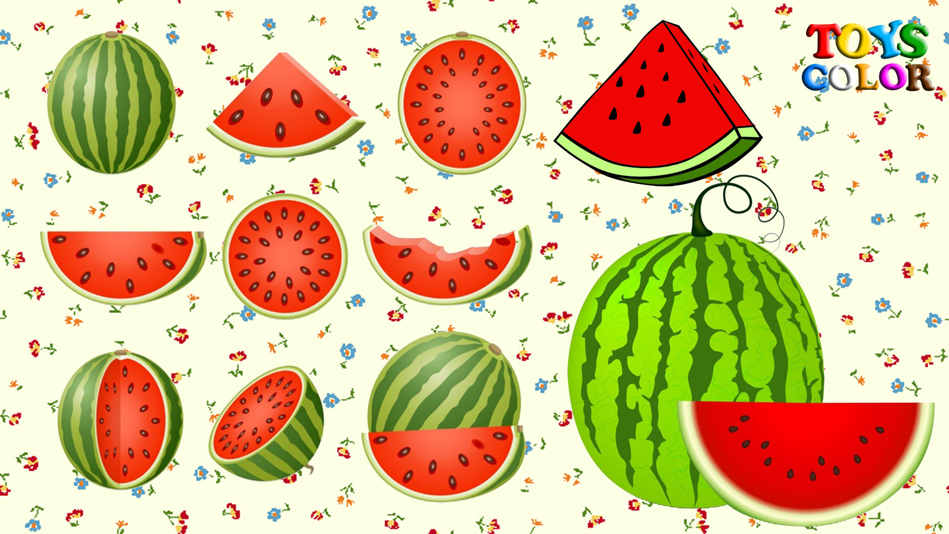 Como Dibujar Sandia How to Draw Watermelon Coloring For Kids Dibujos Para Niños Learn Colors Toys Color