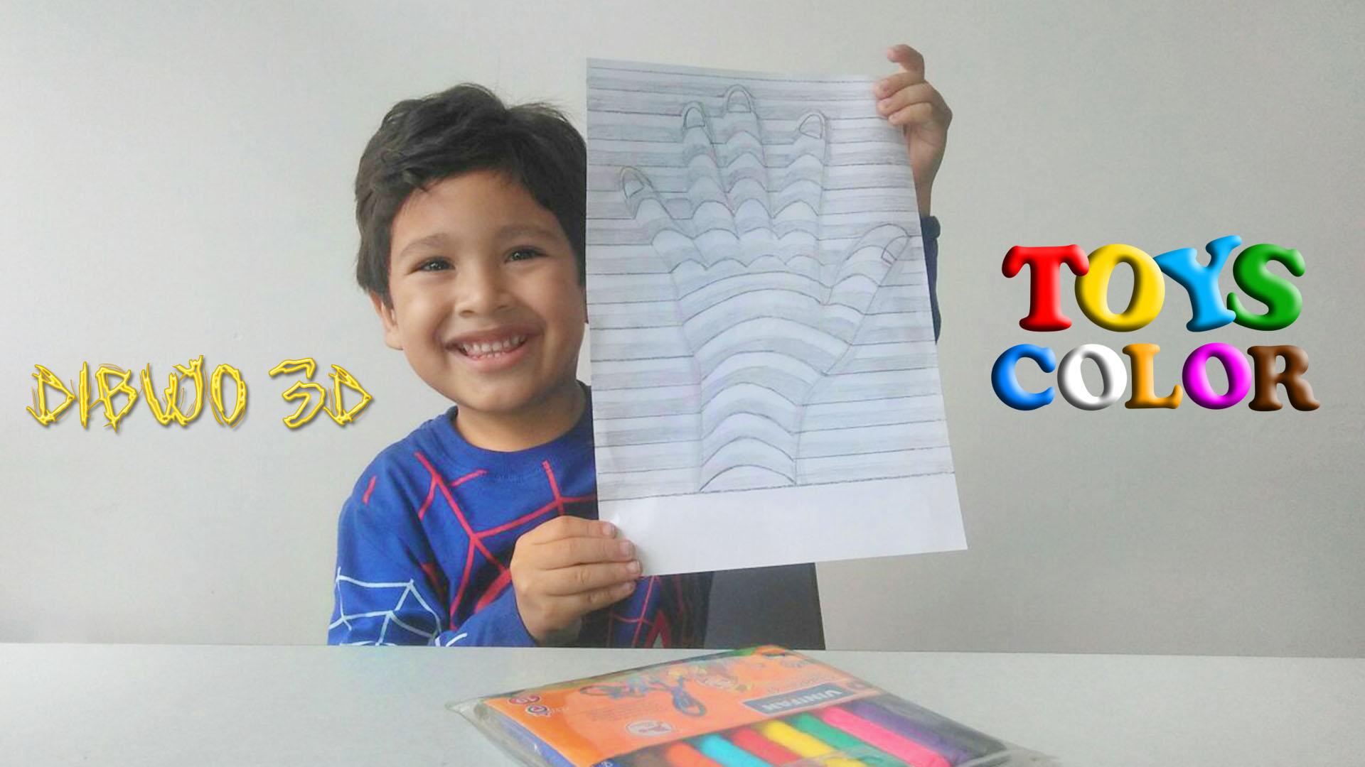 Como Dibujar una Mano en 3D – Dibuja y Colorea una Mano en 3D – Dibujos para Niños – Learn Colors – ToysColor