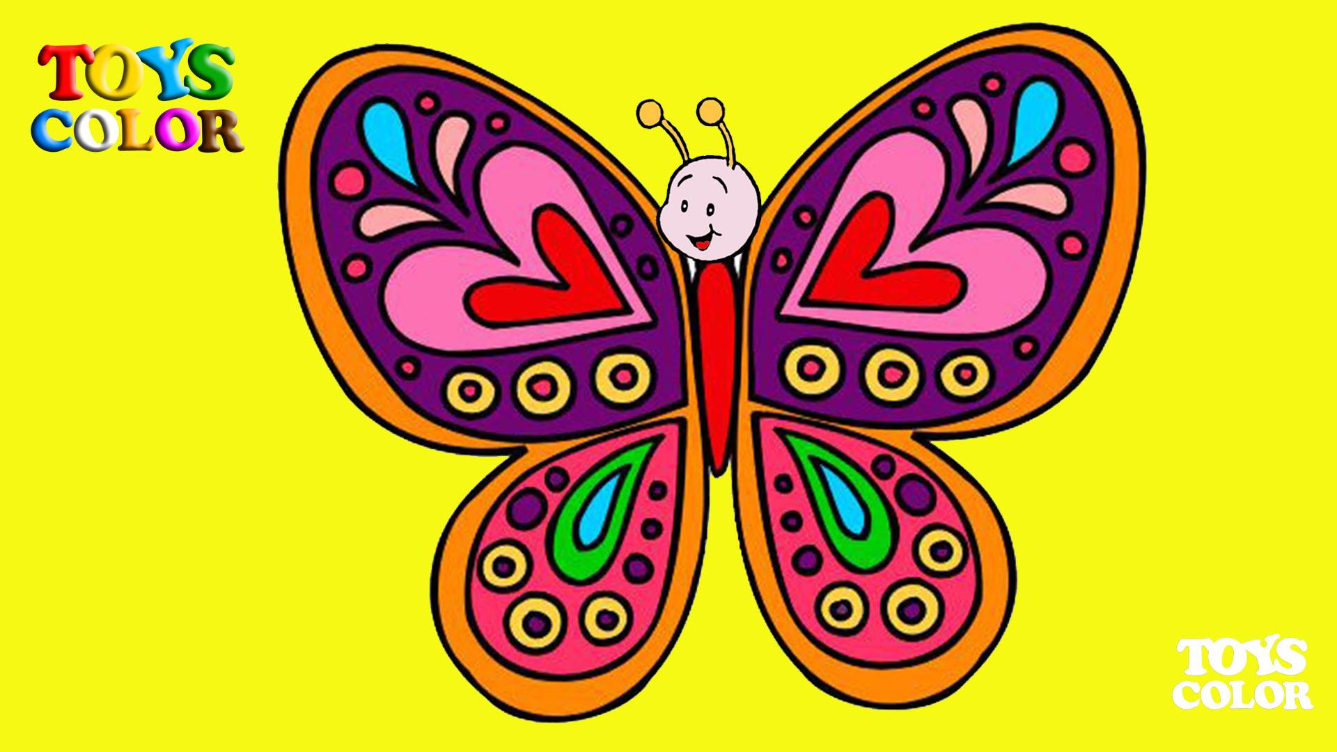 Dibuja y Colorea una Mariposa, Aprende los colores de la Mariposa, Dibujando y Pintando para Niños