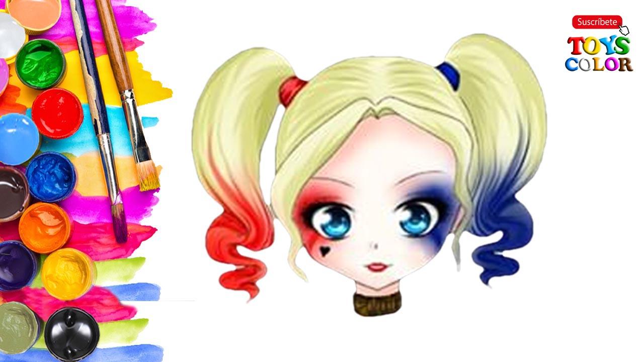 Dibujos Kawaii Fáciles, Como Dibujar Kawaii, Harley Quinn Kawaii