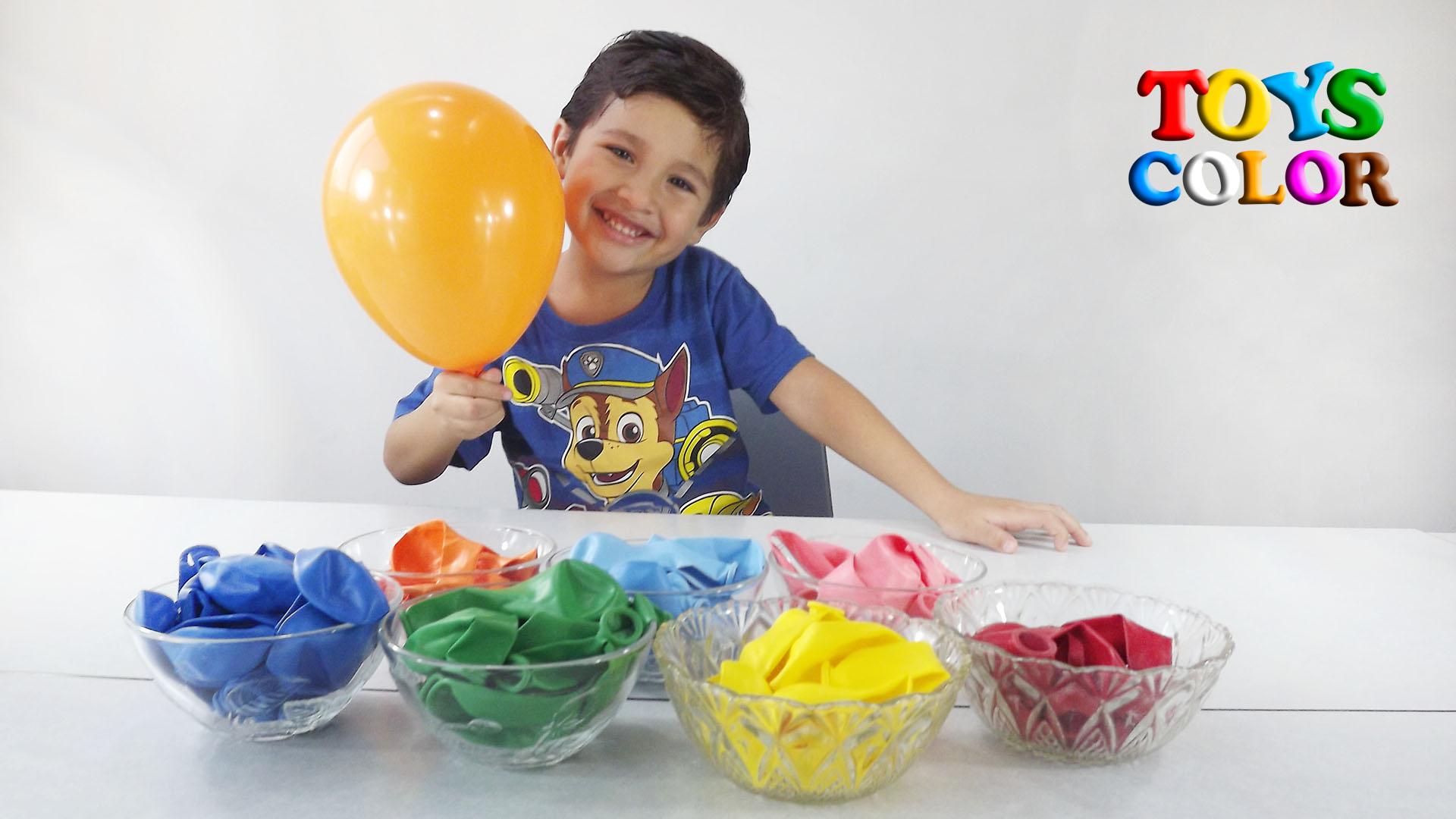 Aprender Jugando con Globos de Colores, Aprender los Colores Diversion, Aprender Jugando en Español