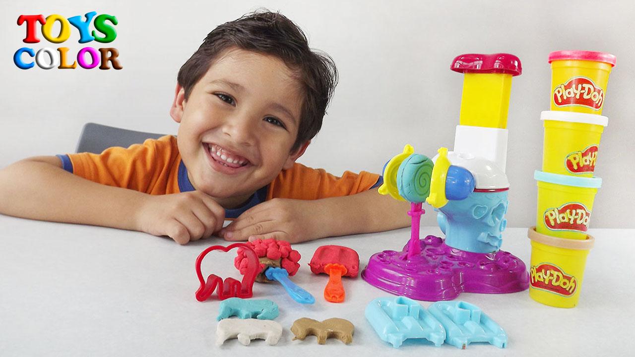 Aprender los Colores con Helados de Plastilina PLAY DOH 2017, Videos Infantiles Educativos ToysColor