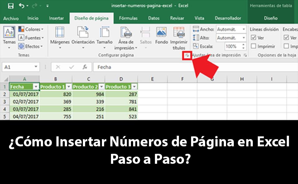 Cómo Insertar Números de Página en Excel paso a paso