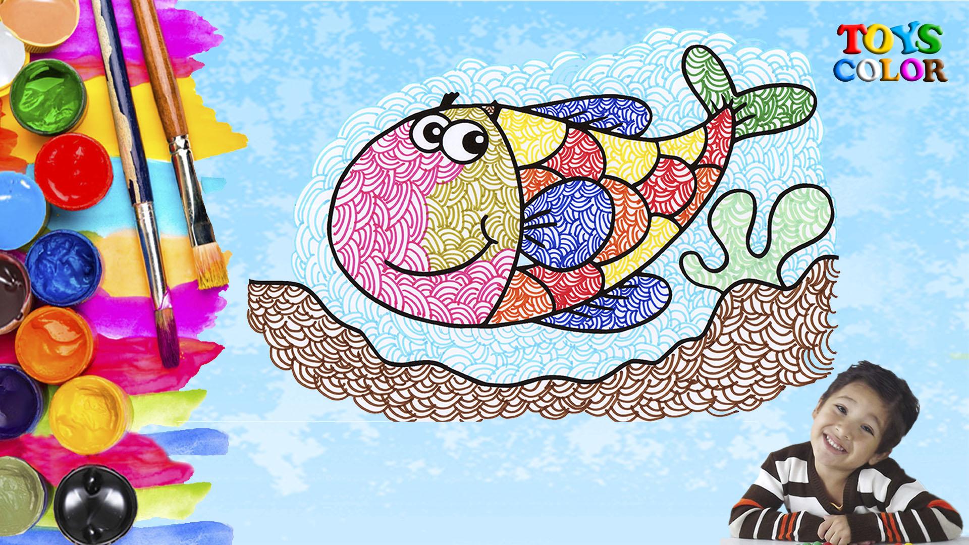 Como Dibujar y Colorear un Pez de Colores Como Dibujar un Pez How to Draw and Color a Fish of Colors