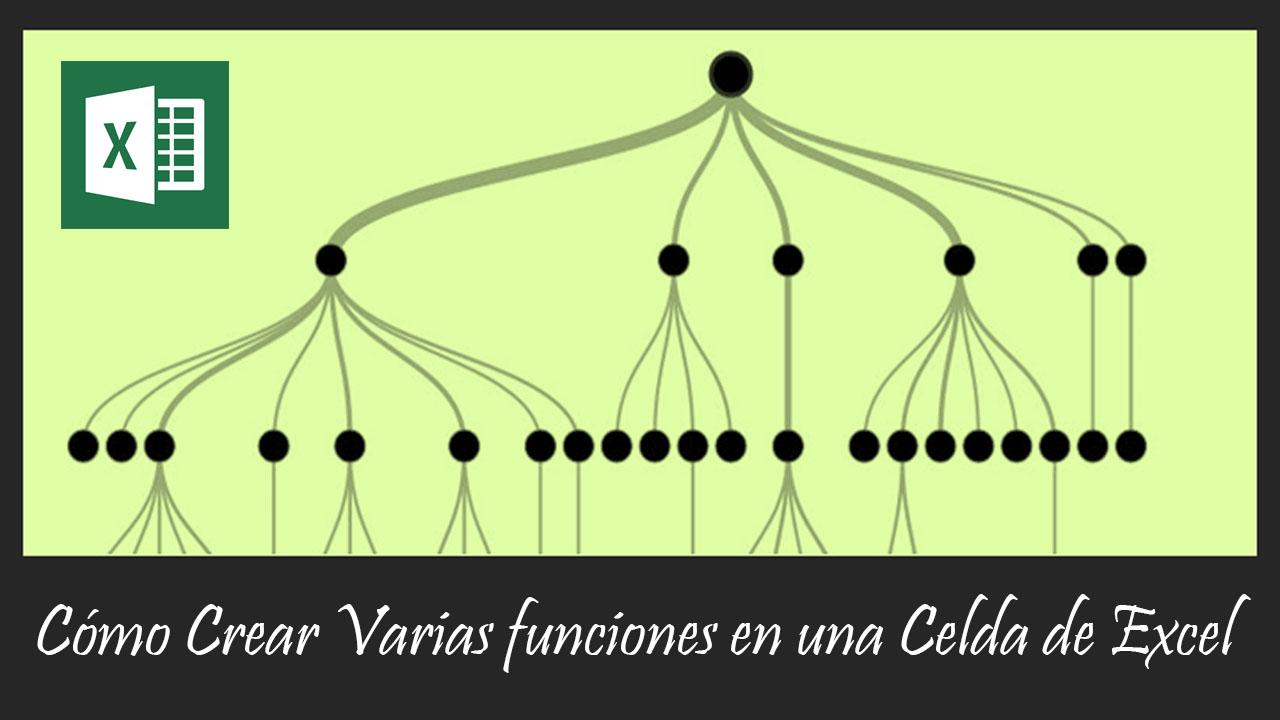Cómo Crear Varias funciones en una Celda de Excel