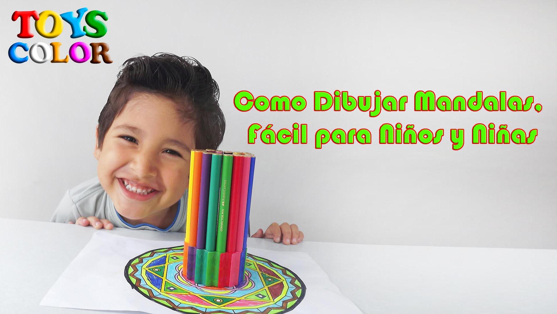 Como Dibujar Mandalas, How to Draw Mandalas, Dibujo Mandala Fácil para Niños y Niñas, ToysColor