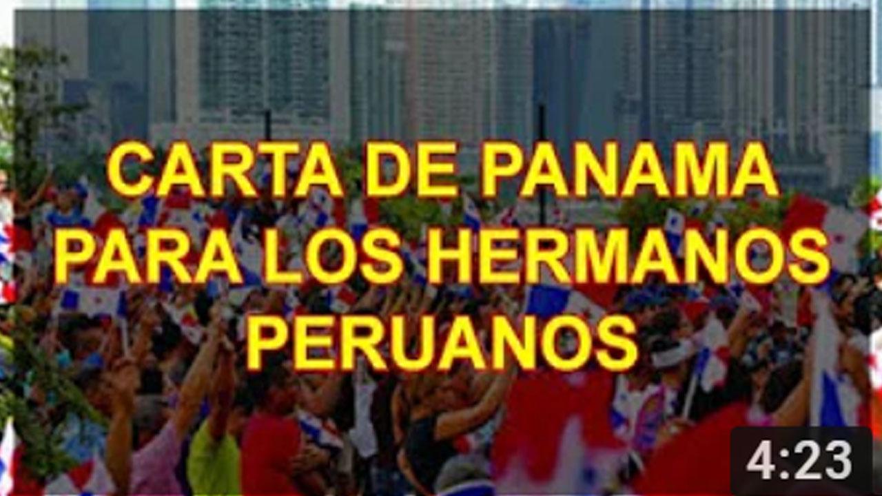 CARTA DE PANAMA PARA LOS HERMANOS PERUANOS