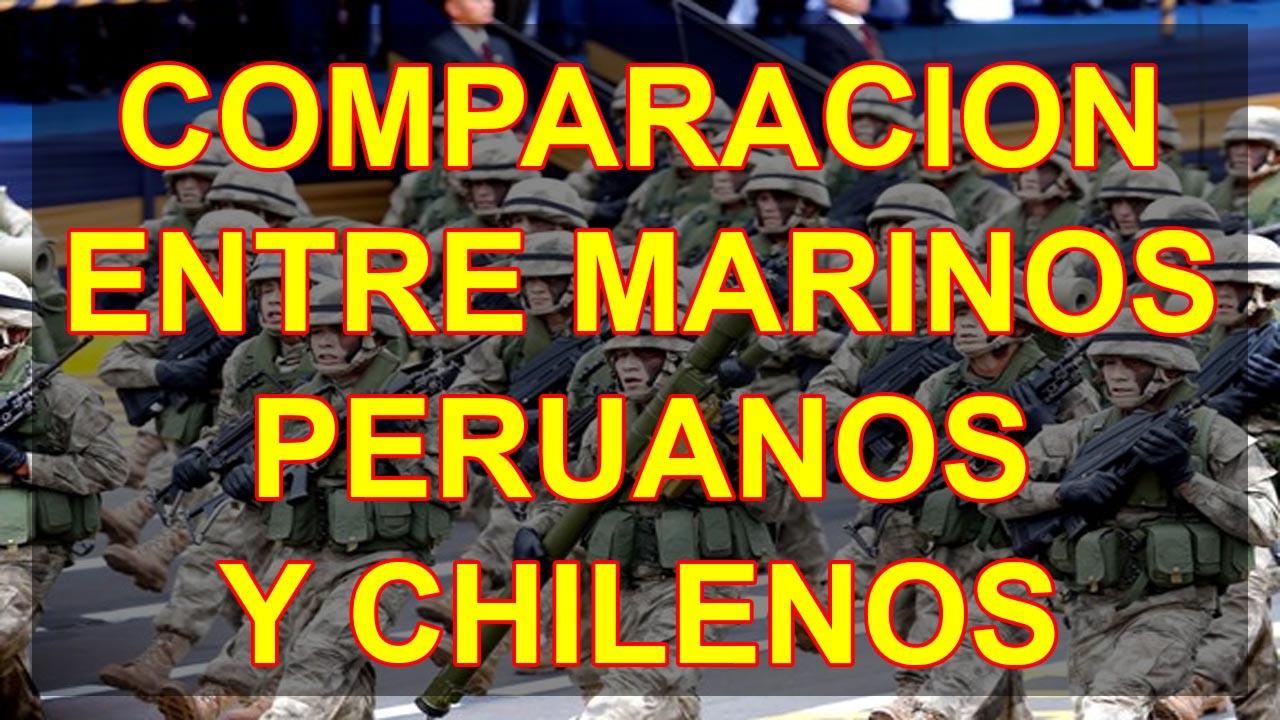 COMPARACION ENTRE MARINOS PERUANOS Y CHILENOS