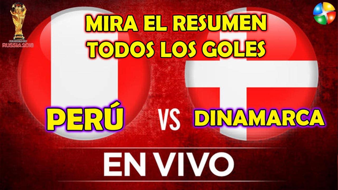 RESUMEN PERÚ VS DINAMARCA, TODOS LOS GOLES PERÚ VS DINAMARCA, PARTIDO PERÚ VS DINAMARCA