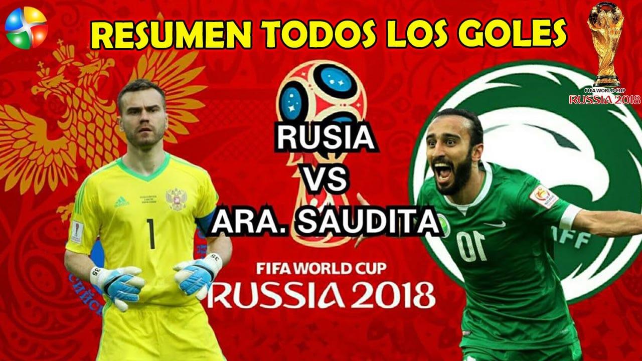 RESUMEN RUSIA VS ARABIA, AQUÍ TODOS LOS GOLES, GOLEADA RUSIA 5 ARABIA SAUDITA 0 PRIMER PARTIDO RUSIA