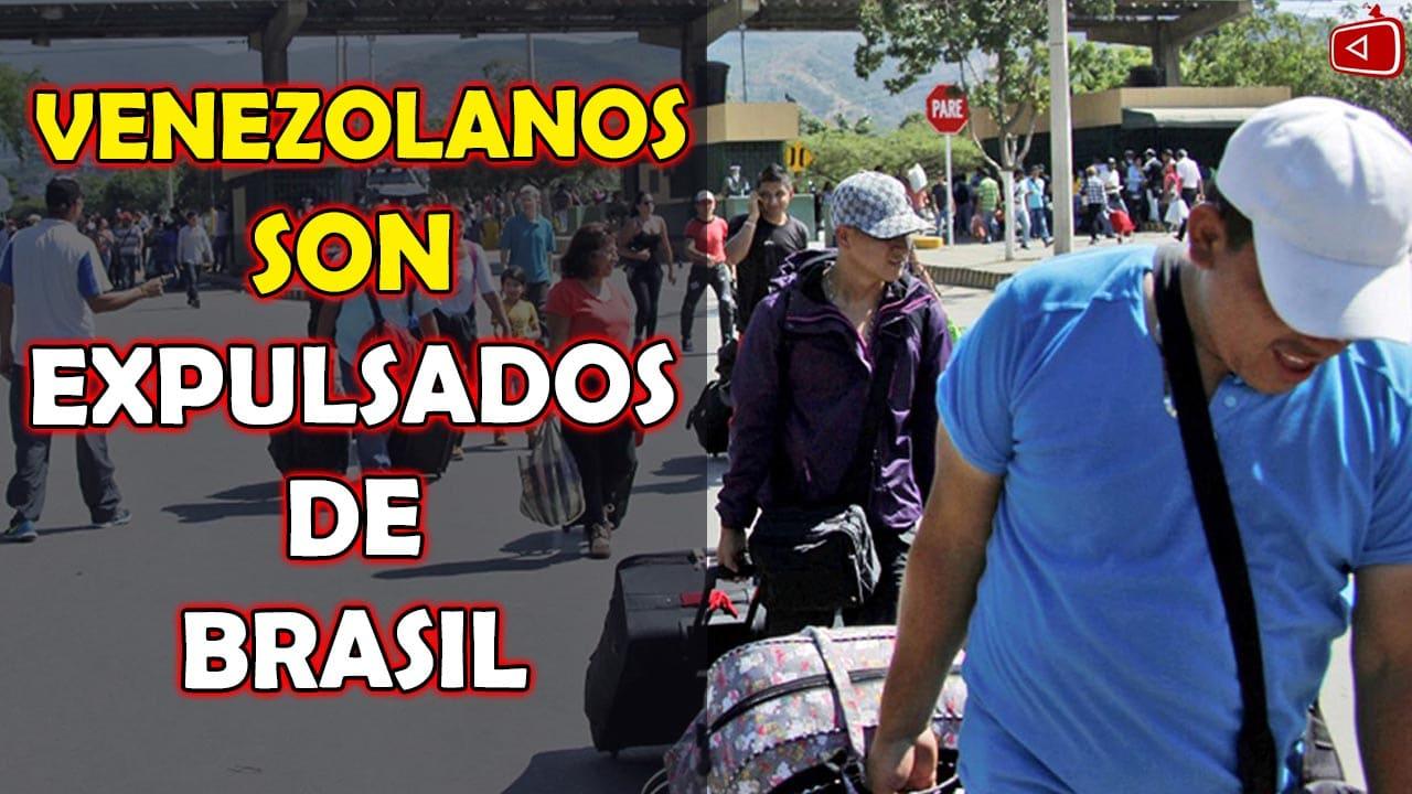ULTIMO MINUTO VENEZOLANOS SON EXPULSADOS DE BRASIL Y REGRESAN A SU PAÍS, TELE NOTICIAS, NOTICIAS HOY