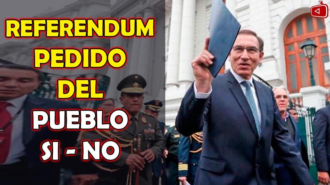 PRESIDENTE VIZCARRA SE REAFIRMA Y DICE REFERENDUM SI VA, REFERENDUM PEDIDO DEL PUEBLO