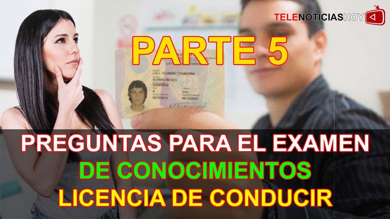 (5/5) 50 Preguntas para Examen Licencia de Conducir A1 Preguntas y Respuestas para Brevete A1